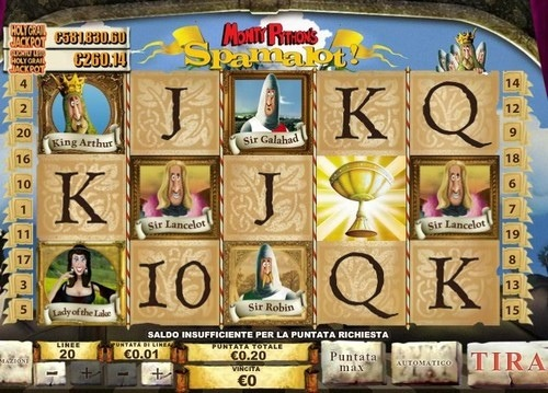 Simboli slot machine Spamalot