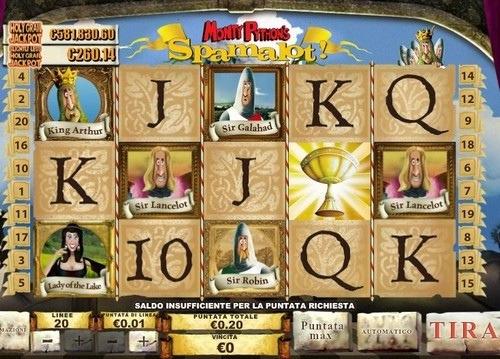 Simboli slot machine Spamalot