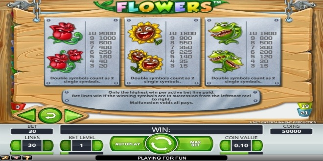 Slot machine Flowers online