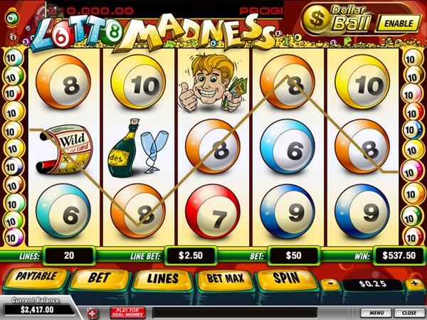 Slot Machine Lotto Madness online