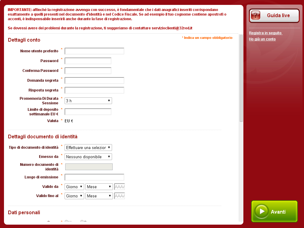 32red_registrazione