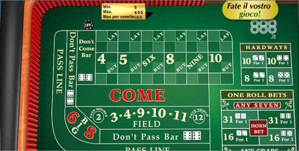 Giocare e Craps Casino online