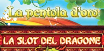 loghi Slot machine La pentola d'oro e La slot e il drogone
