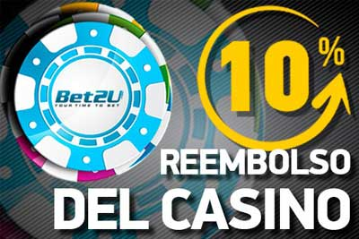 bonus rimborso casino bet2u