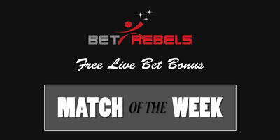 betrebels free live bet match of the week
