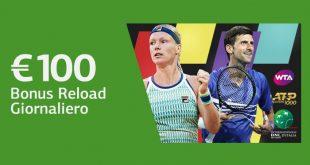 LsBet offre 100 euro di bonus ricarica per gli Internazionali di Tennis