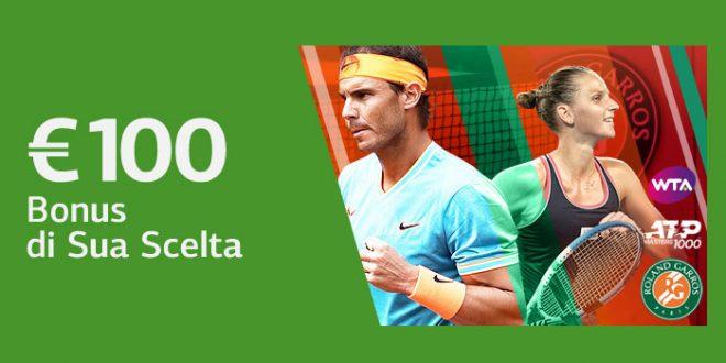 Ls Bet offre tre diversi bonus da 100€ per il Roland Garros