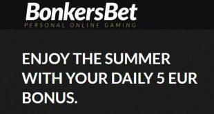 5 euro giornalieri con il bonus summer di BonkersBet