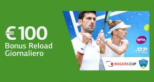 100 euro bonus LsBet su Rogers Cup e Cincinnati Masters