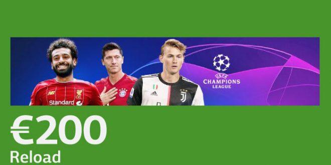 200€ di bonus ricarica Champions da LsBet!
