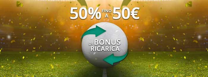 1bet bonus ricarica 50 euro