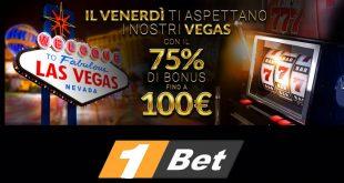 Bonus venerdì: 100 euro sul casinò di 1Bet