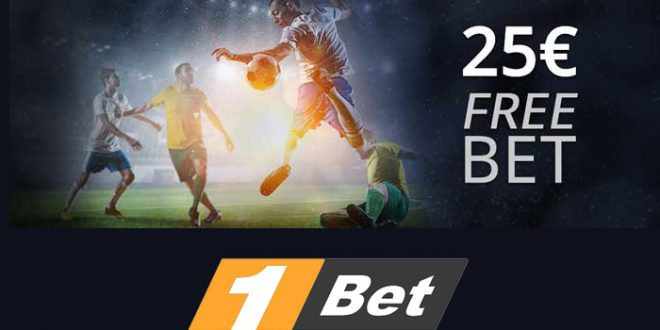 1Bet ti regala una free bet da 25 euro