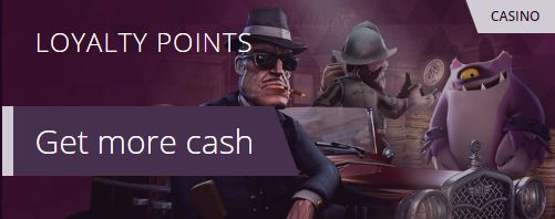 malina casino loyalty points