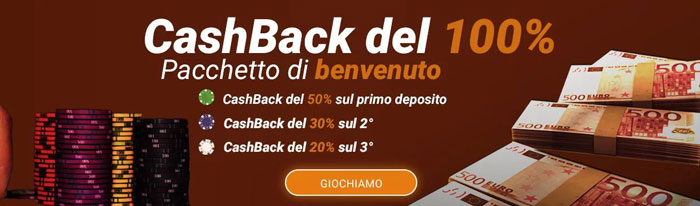all cashback casino bonus