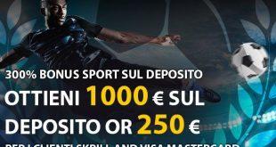 1000€ bonus Bet2U se depositi con Skrill o VISA