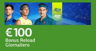 Bonus ricarica ATP finals 100 euro da LsBet