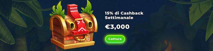 wazamba bonus cashback settimanale