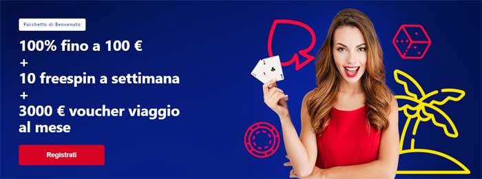 betmaster casino bonus benvenuto