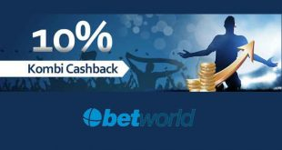 Kombi Cashback di Betworld fino al 10%