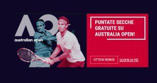 Rabona offre puntate secche gratis sugli Australian Open