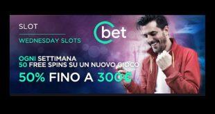 Cbet casino presenta il bonus slot del mercoledì da 300 euro