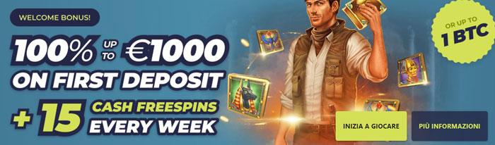 casinoin bonus 1000 euro
