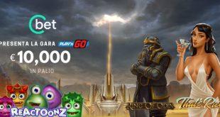 CBet presenta la race Play'n'Go con 10.000€ di montepremi