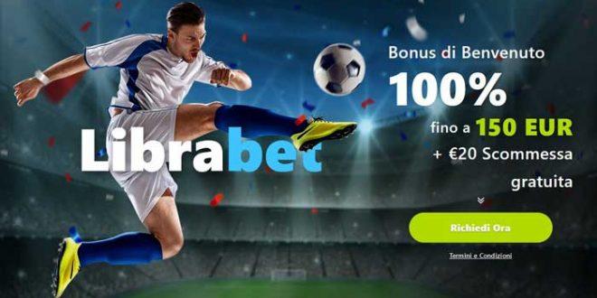 librabet nuovo bonus sport 150 + 20 euro