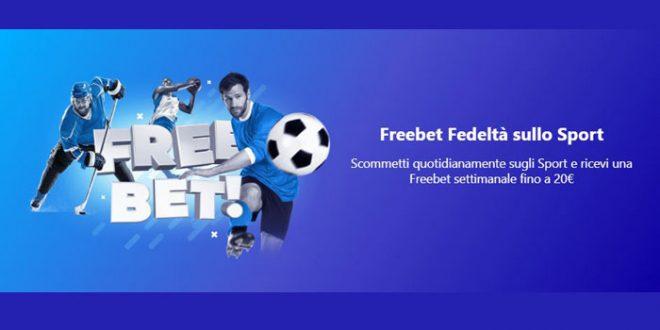 Bonus free bet fedeltà da Betmaster