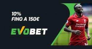evobet bonus cashback 150 euro