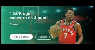 Free bet NBA offerta da Librabet scommesse