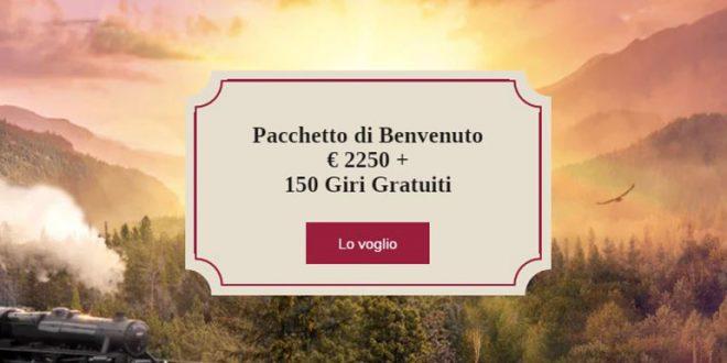 Nuovo pacchetto bonus da OrientXpress Casinò fino a 2250€