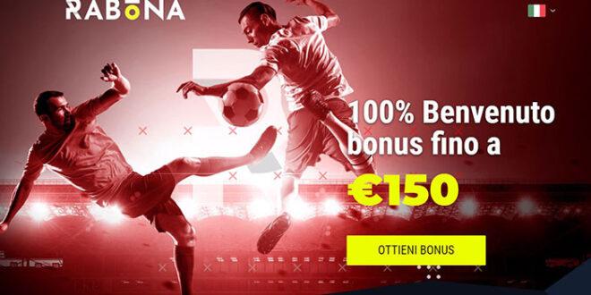 Rabona presenta il nuovo bonus sport da 150 euro