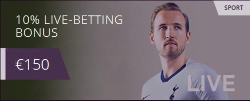 10% live-betting bonus malina